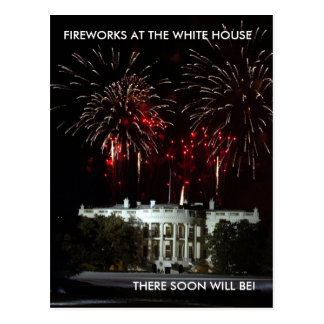 Postcard, FIREWORKS AT THE WHITE HOUSE.. -
