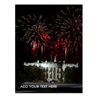 postcard, FIREWORKS AT THE WHITEHOUSE - Customized