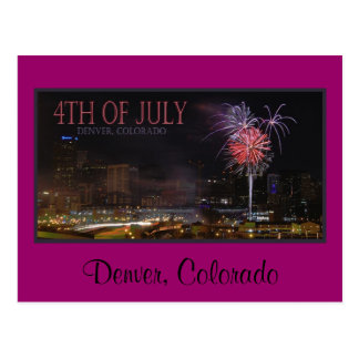 postcard fireworks, Denver, Colorado