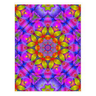 Postcard Floral Fractal Art G445
