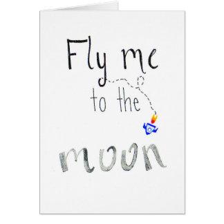 "Postcard ""Fly ME ton the moon """
