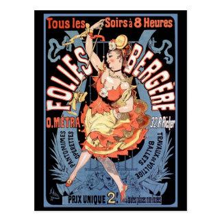 Postcard: Folies Bergere Postcard