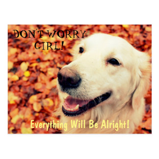 Postcard for dogs lovers with text and photo