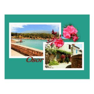 postcard for Osor, island Cres, Croatia