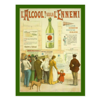 Postcard French vintage alcohol