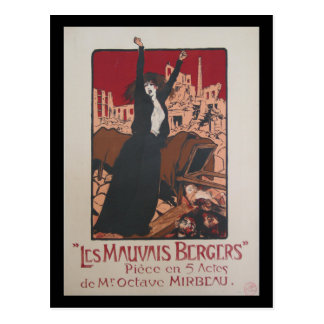 Postcard French Vintage Mauvais bergers