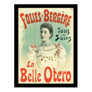 Postcard French vintage Otero