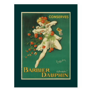 Postcard french vintage poster Conserves