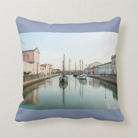 Postcard from Cesenatico #4 (Italy) Throw Pillow
