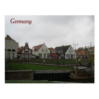 postcard Germany seaside