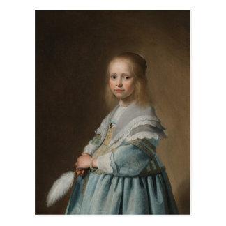 Postcard girl in blue verspronck