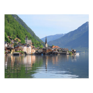 Postcard - Hallstatt town and lake, Austria