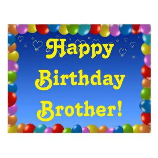 Postcard Happy Birthday Brother