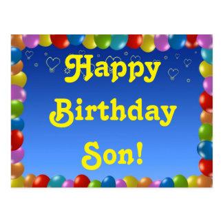 Postcard Happy Birthday Son