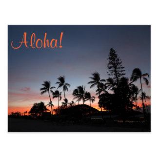 Postcard - Hawaiian sunset