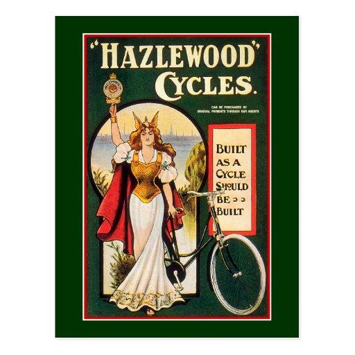 Postcard:  Hazlewood Cycles  - Vintage Bicycle