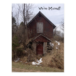 Postcard Homestead Old House Announce We've Moved