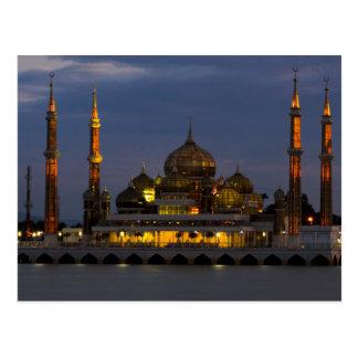 Postcard Hook Mosque Terengganu, Malaysia