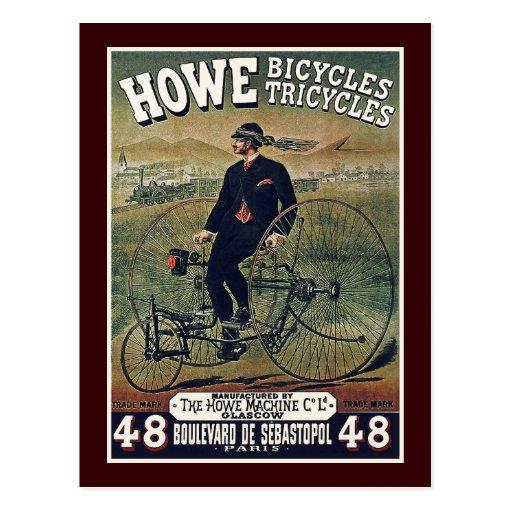 Postcard: Howe Bicycles & Tricycles