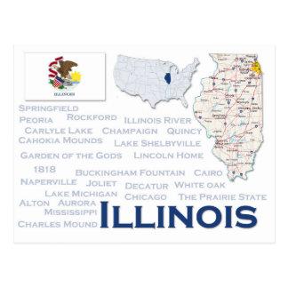 """Postcard """"Illinois"""""""