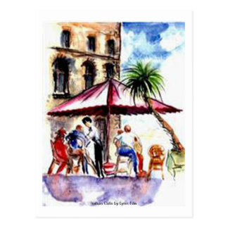 Postcard - Italian Cafe