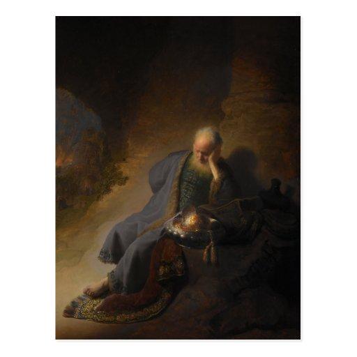 Postcard Jeremiah Jerusalem Rembrandt