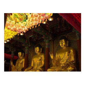 Postcard Jogyesa Temple in Seoul, South Korea