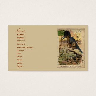 Postcard Kingfisher Business Card