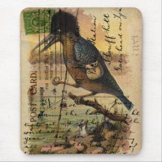 Postcard Kingfisher Mouse Pad