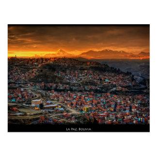 Postcard La Paz, Bolivia