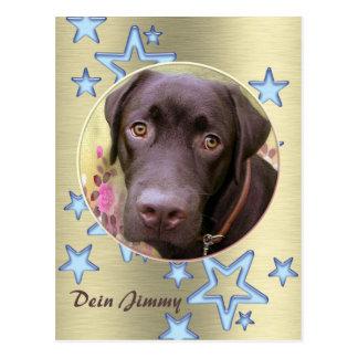 Postcard Labrador Jimmy