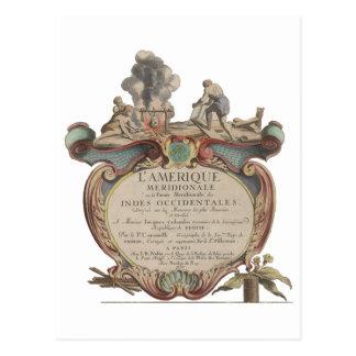 Postcard: L'Amerique Meridionale, 1689 Postcard