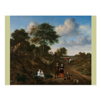 Postcard landscape family