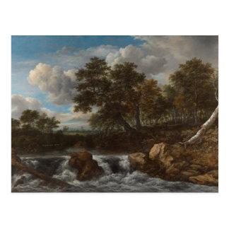 Postcard landscape waterfall