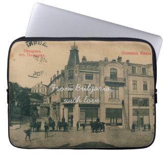 Postcard Laptop Sleeve - Dzhumaya Square, Bulgaria