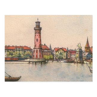 Postcard - Lindau Lighthouse