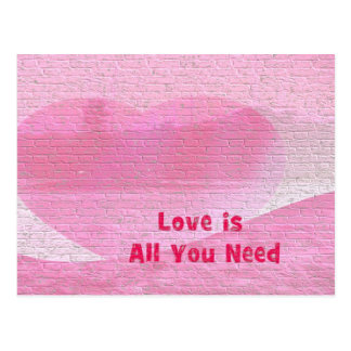 Postcard love is all you need