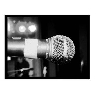 Postcard-Love the Arts-Microphone Postcard