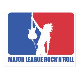POSTCARD - MAJOR LEAGUE ROCK'N'ROLL