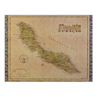 Postcard Map of Curacao