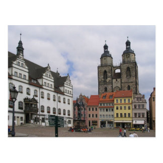 Postcard Marketplace in Wittenberg, Germany