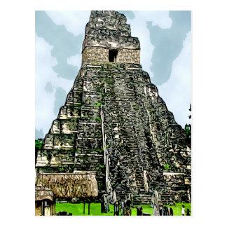 Postcard:  Mayan Temple at Tikal, Guatemala Postcard