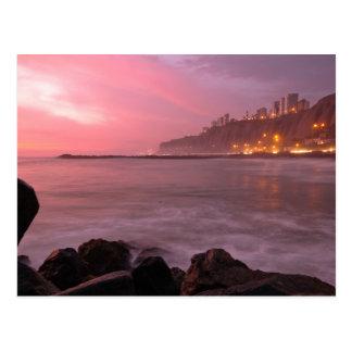 Postcard Miraflores Rosa, Lima, Peru