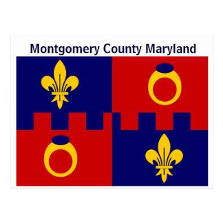 Postcard: Montgomery County Maryland Flag Postcard