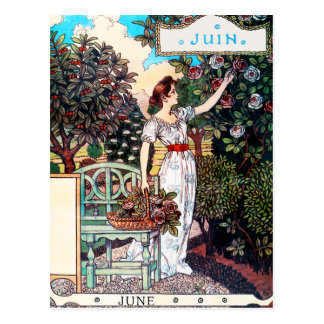 Postcard: Month of  June - Juin Postcard