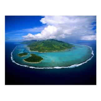 Postcard Moorea Island Overview, French Polynesia