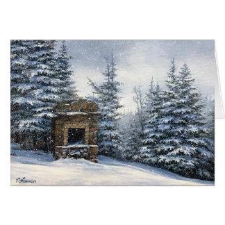 Postcard - Mt Starr King Stone Fireplace