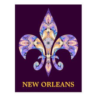 Postcard New Orleans Fleur-de-lis