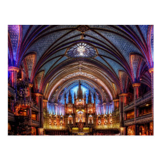 Postcard Notre-Dame Basilica in Montreal