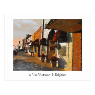 Postcard of Brighton Michigan scene